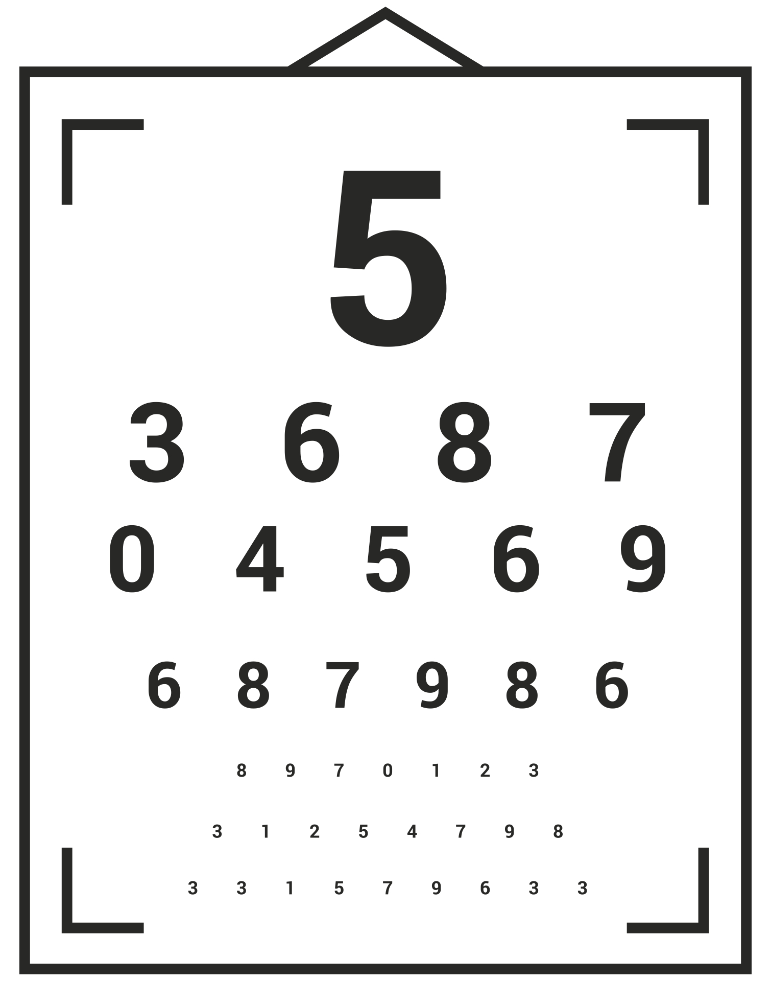 It is an image of Modest Pediatric Eye Chart Printable