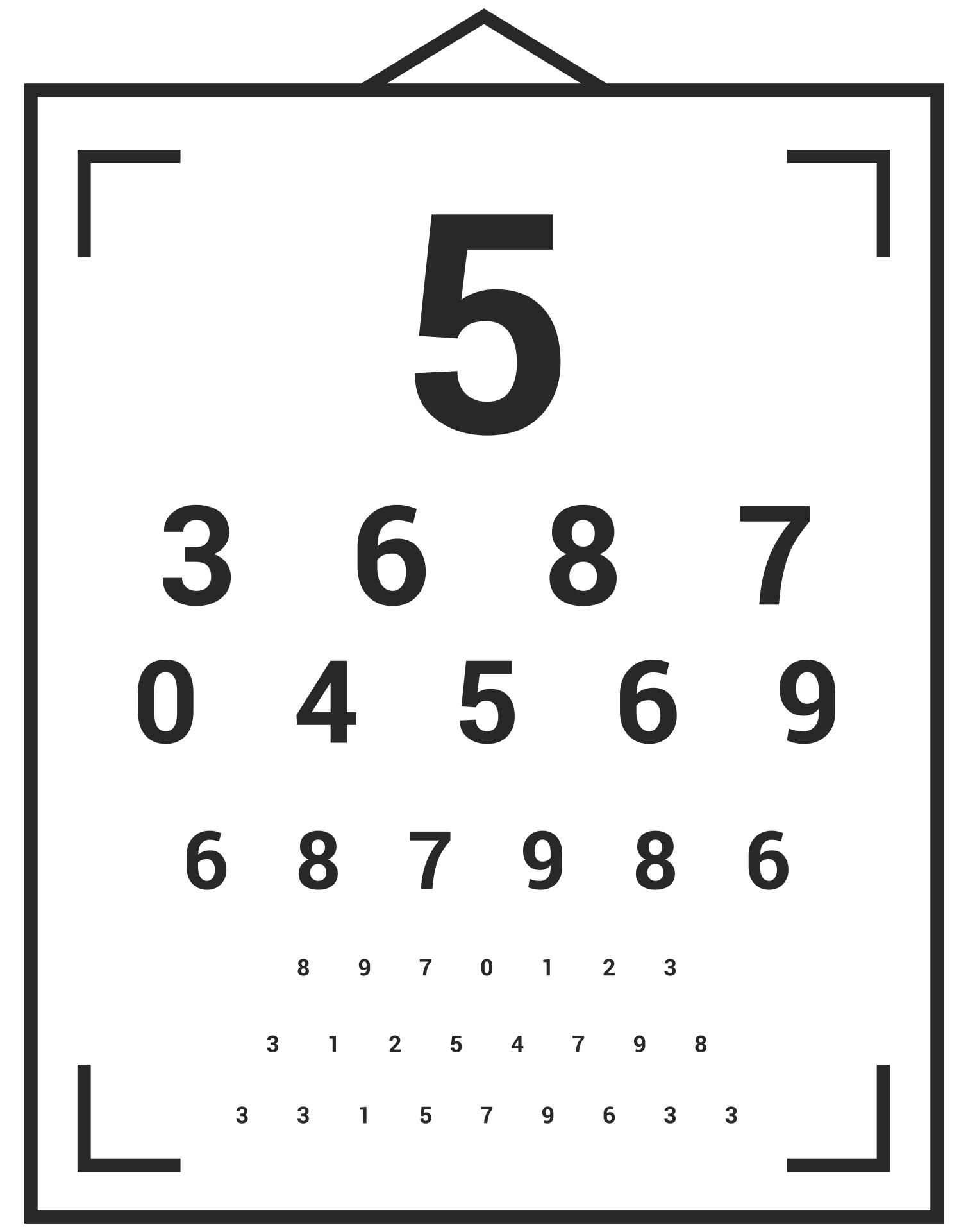 Kindergarten Eye Test Chart