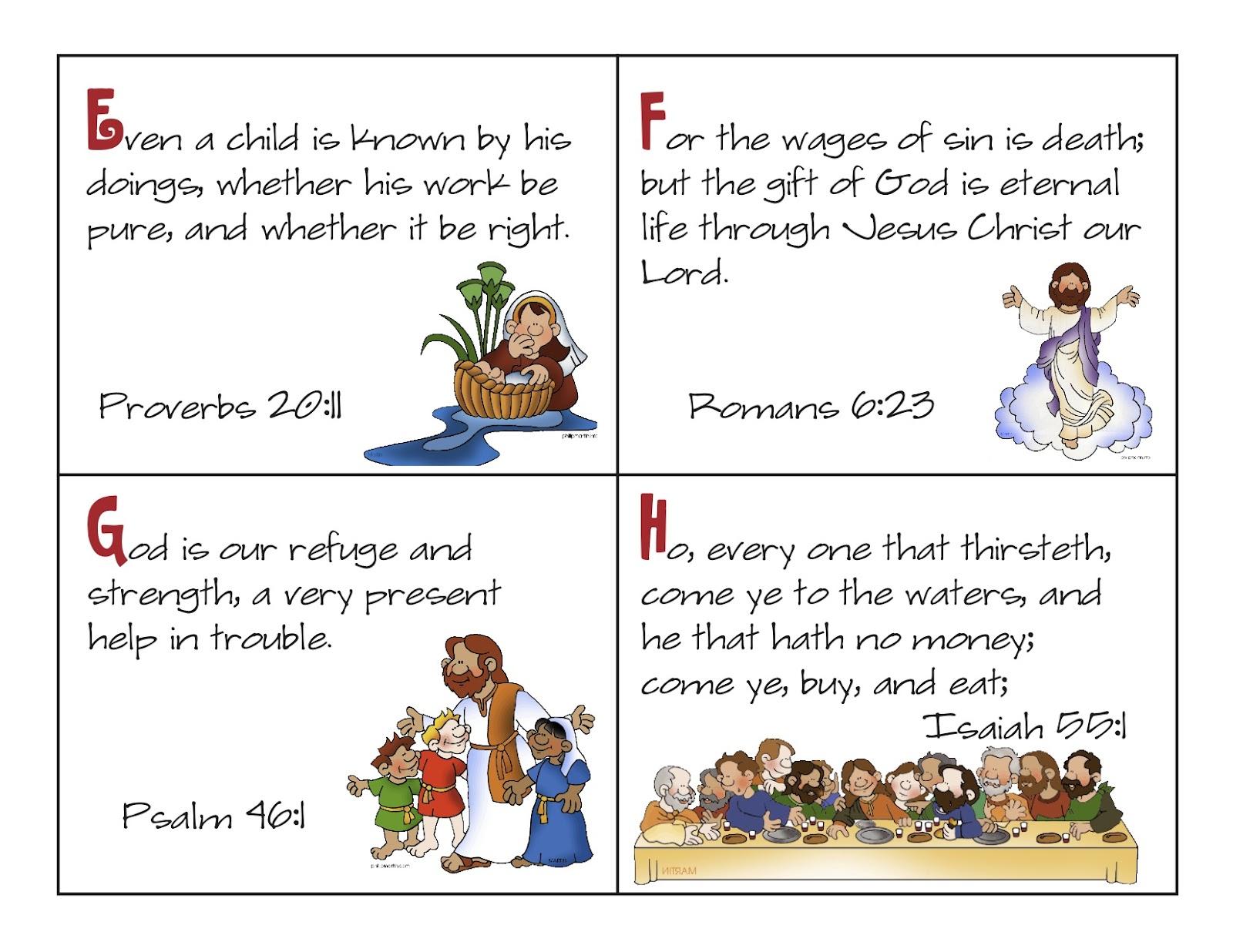 7 Images of Printable Scripture Cards KJV Bible