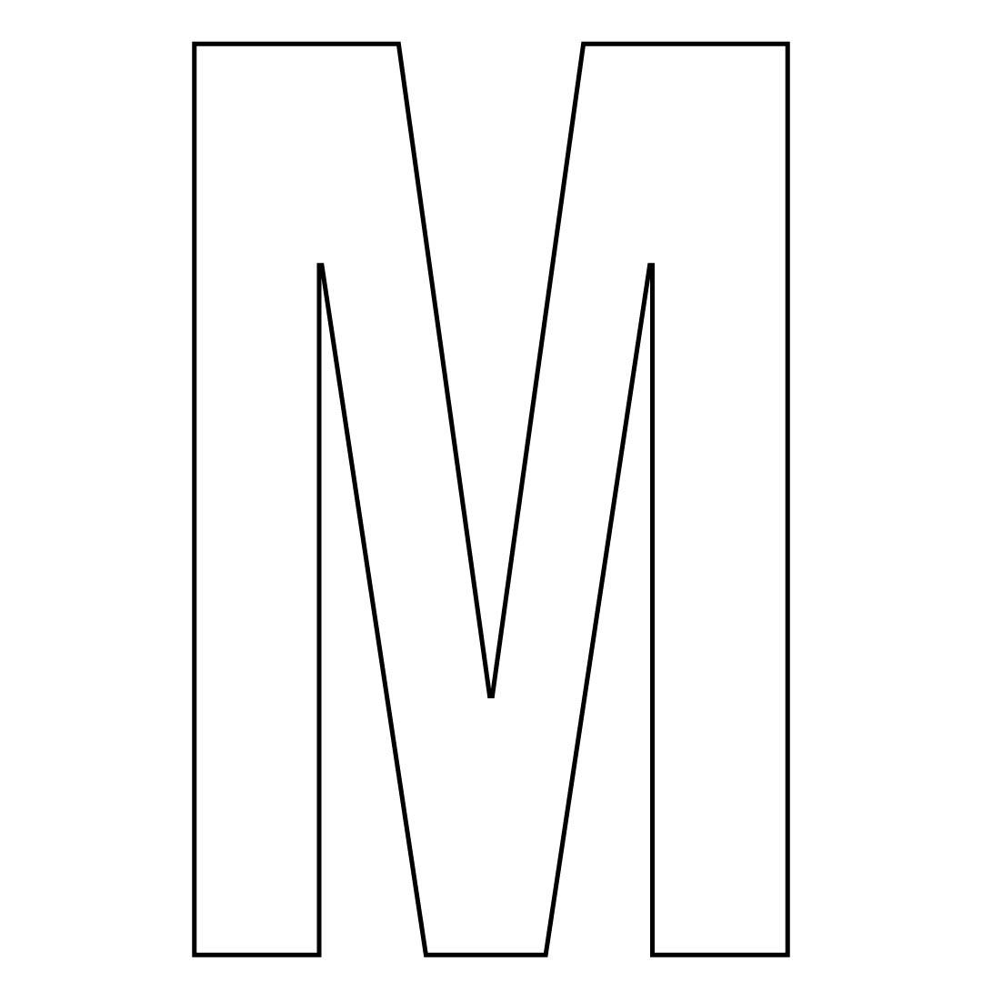 Large Printable Letter M
