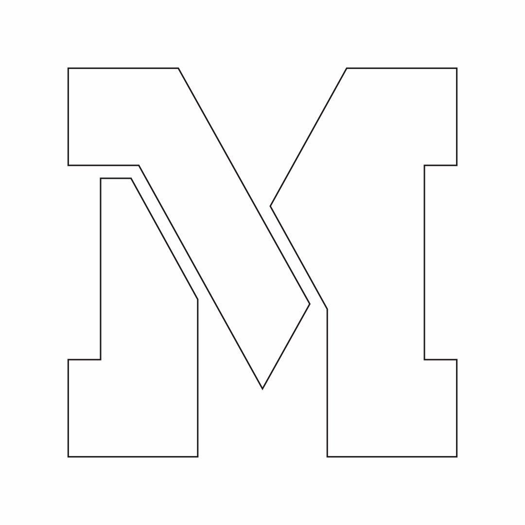 Large Printable Letter Stencils M