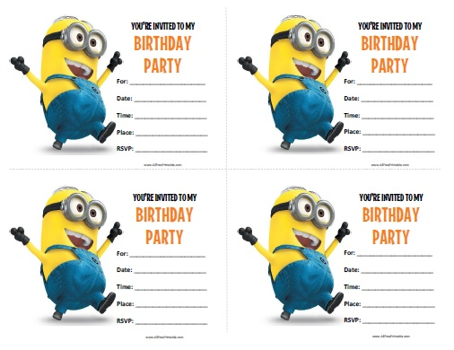 5 Images of Minions Party Invitations Free Printables