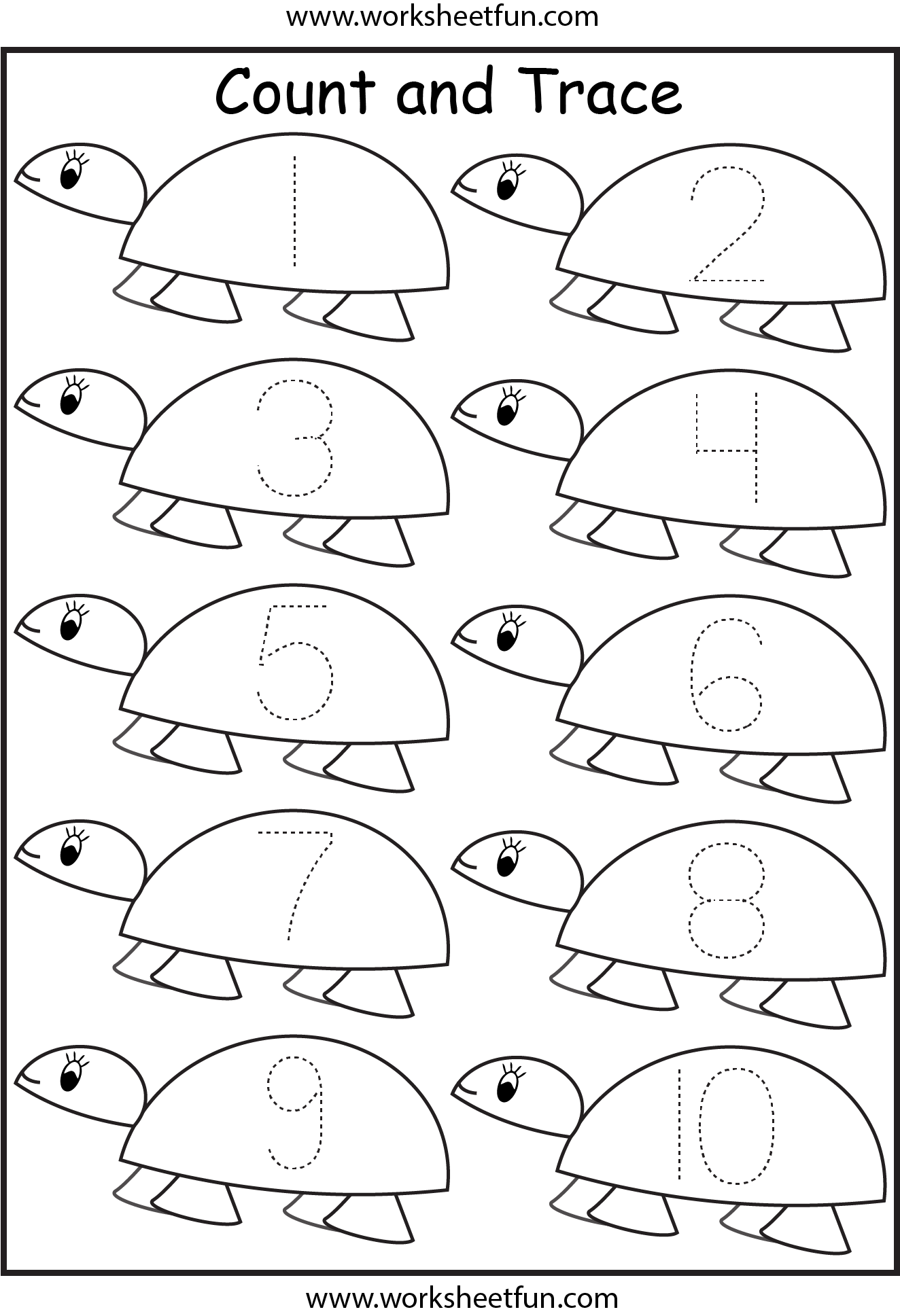 math worksheet : 7 best images of free printable worksheets numbers 1 10  : Kindergarten Tracing Worksheets