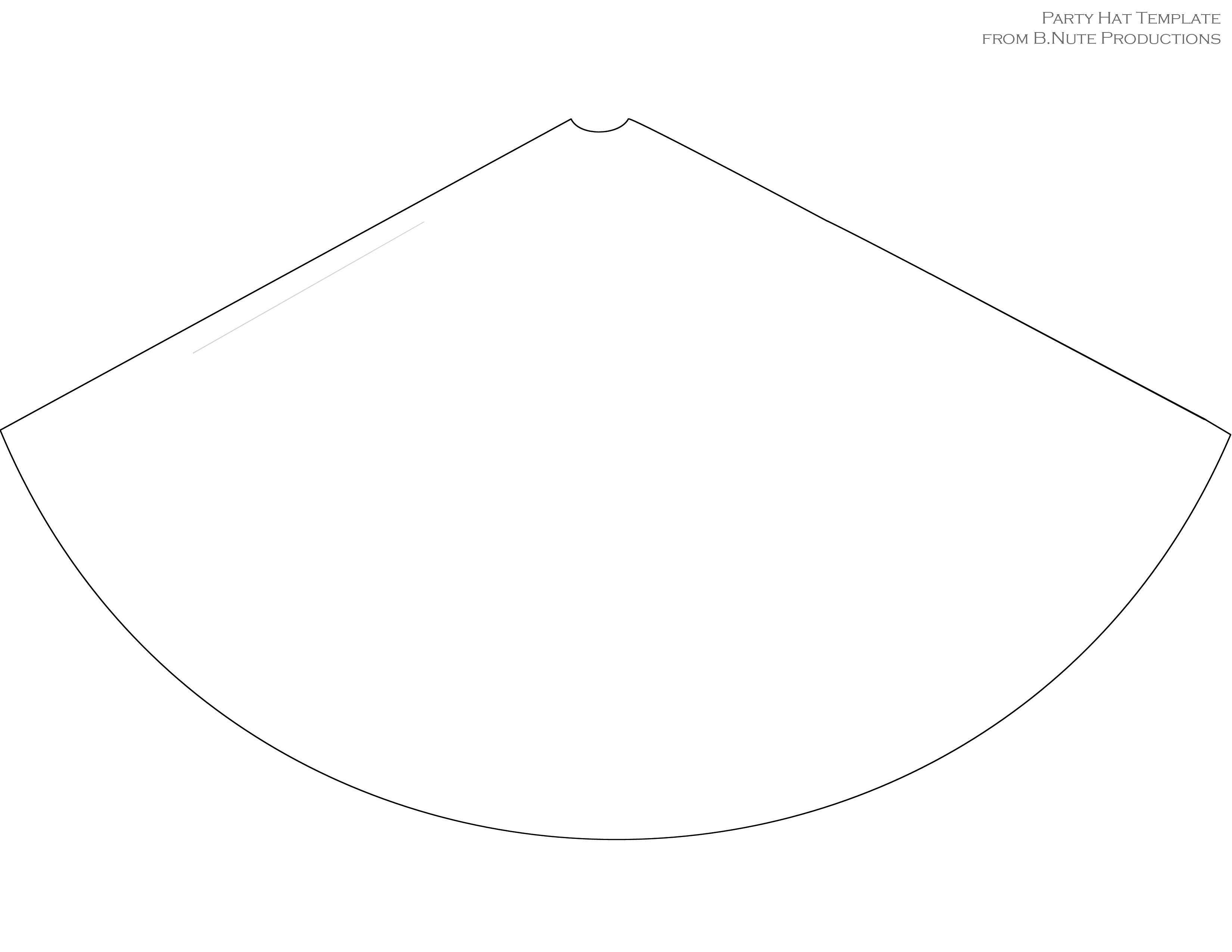 party hat coloring page - 9 best images of free printable party hats party hat
