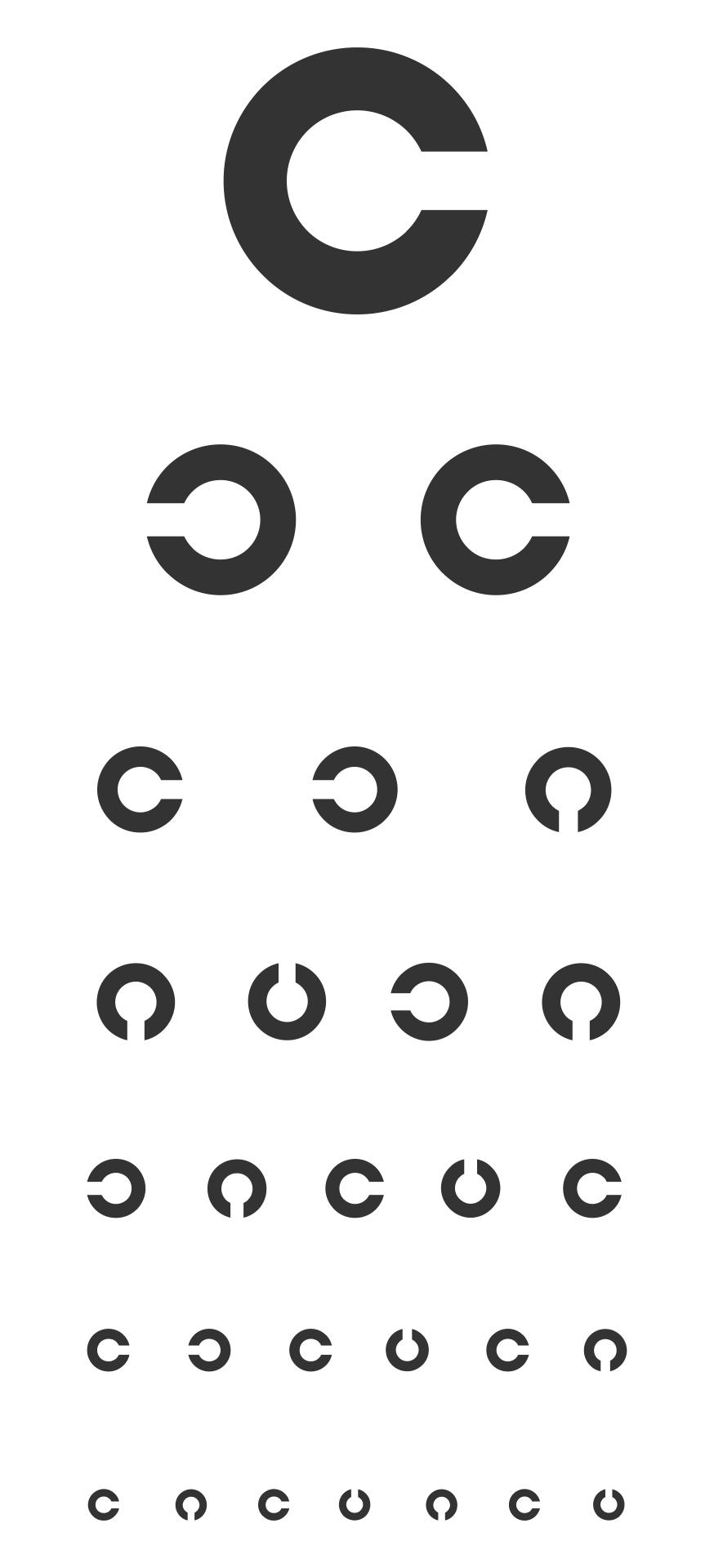 Pediatric Eye Chart Printable