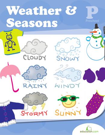 math worksheet : 4 best images of kindergarten weather and seasons printables  : Seasons Worksheet Kindergarten