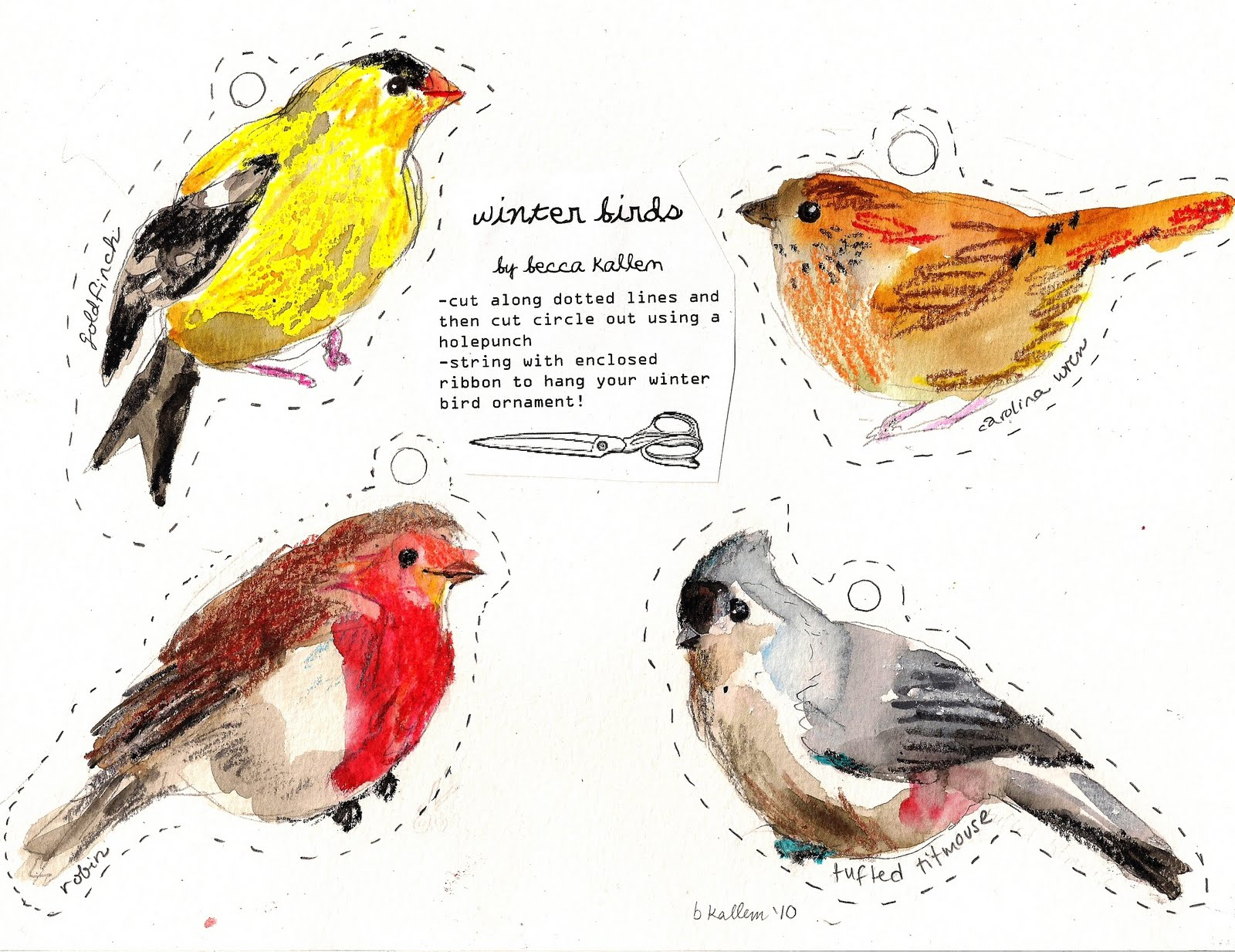 5 Images of Winter Birds Free Printables