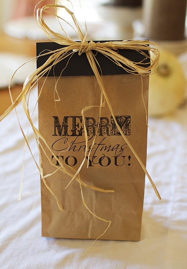 6 best images of printable template christmas paper bags for Brown paper craft bags