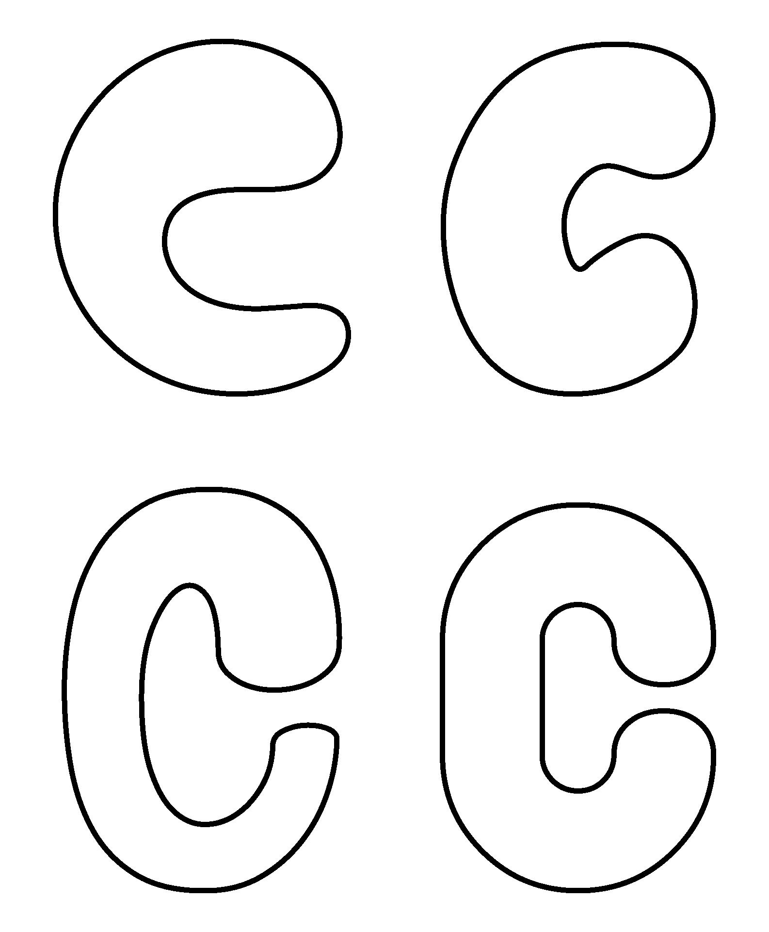Printable Bubble Letter C