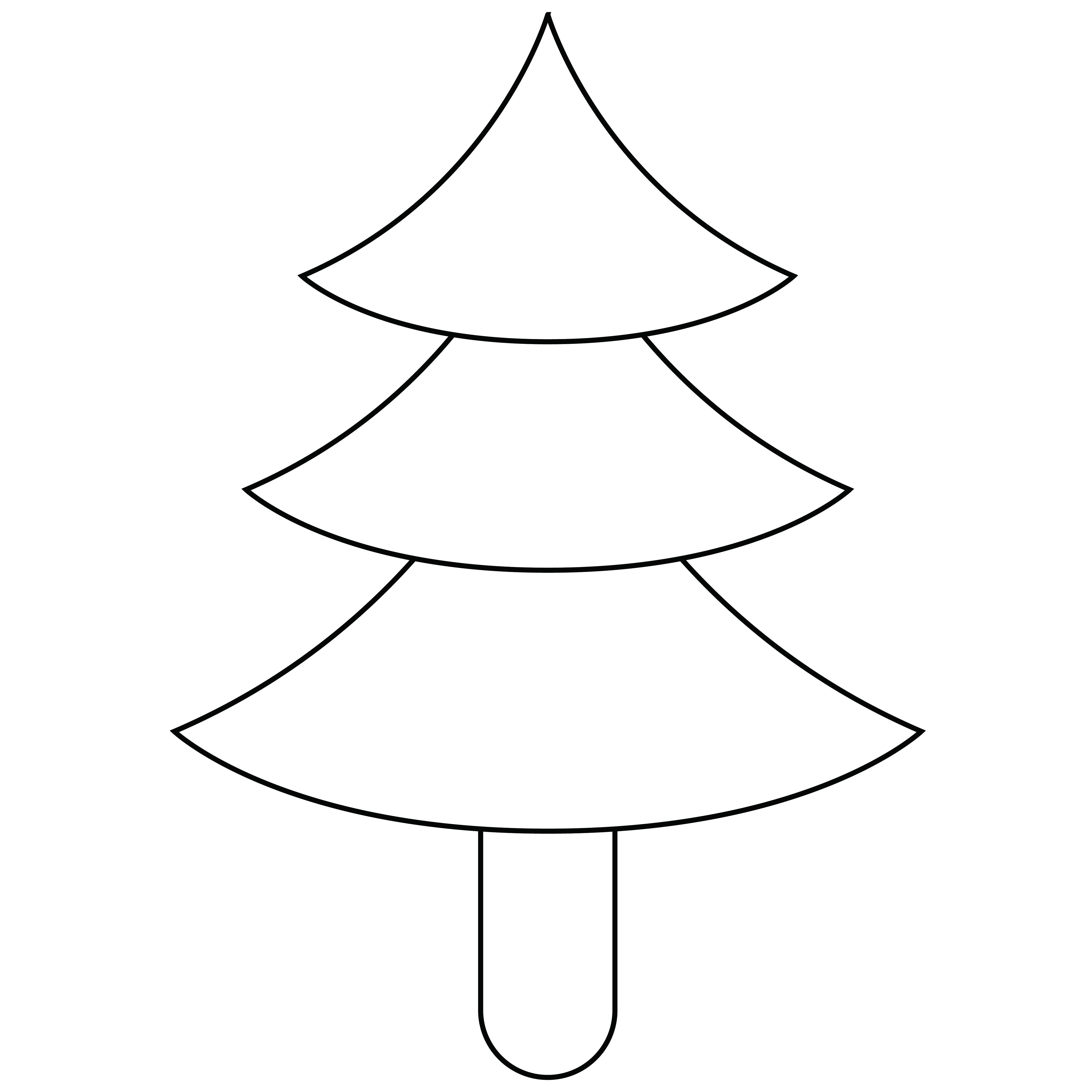 8 Images of Free Printable Christmas Tree Pattern