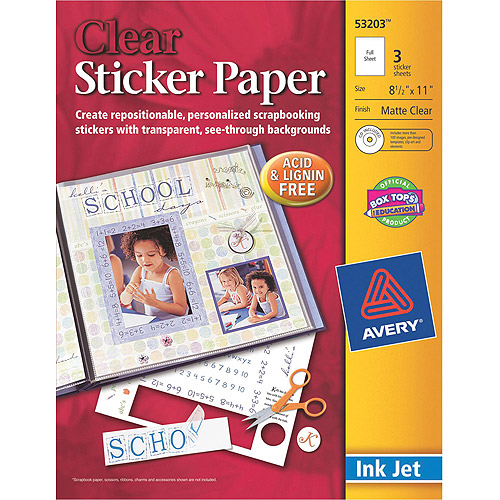 6 Images of Printable Sticker Paper Avery
