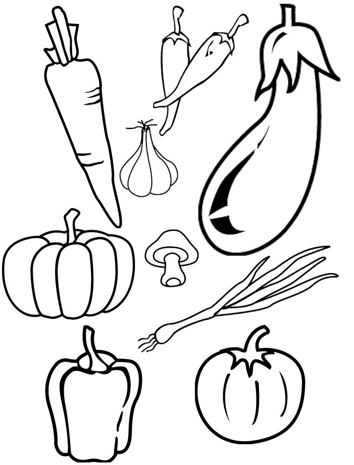 5 Images of Vegetable Template Printable