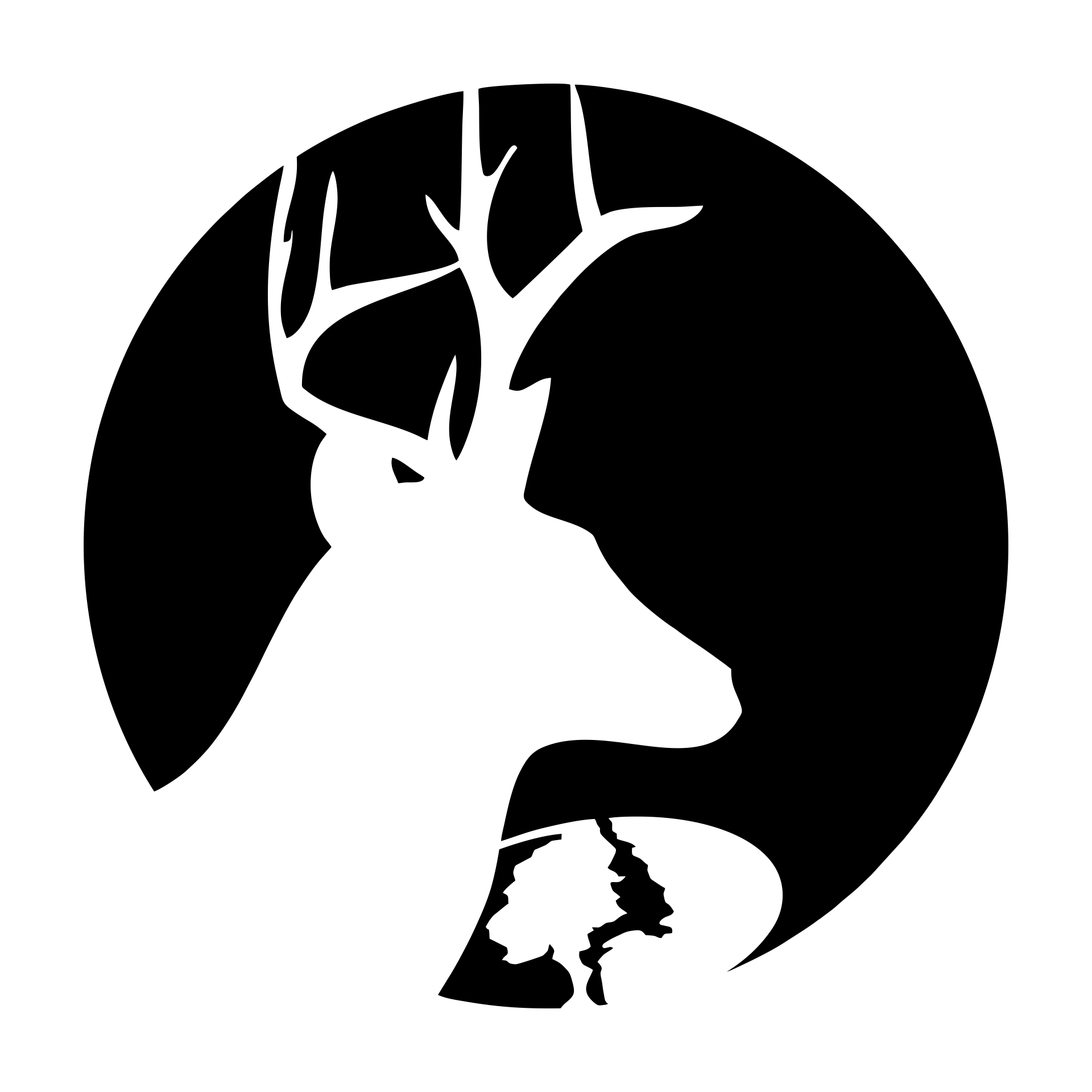 Printable Deer Pumpkin Carving Stencils