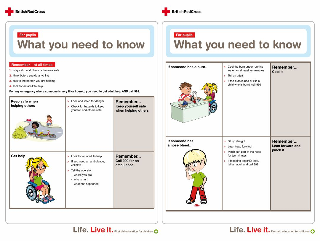 Printable First Aid Information