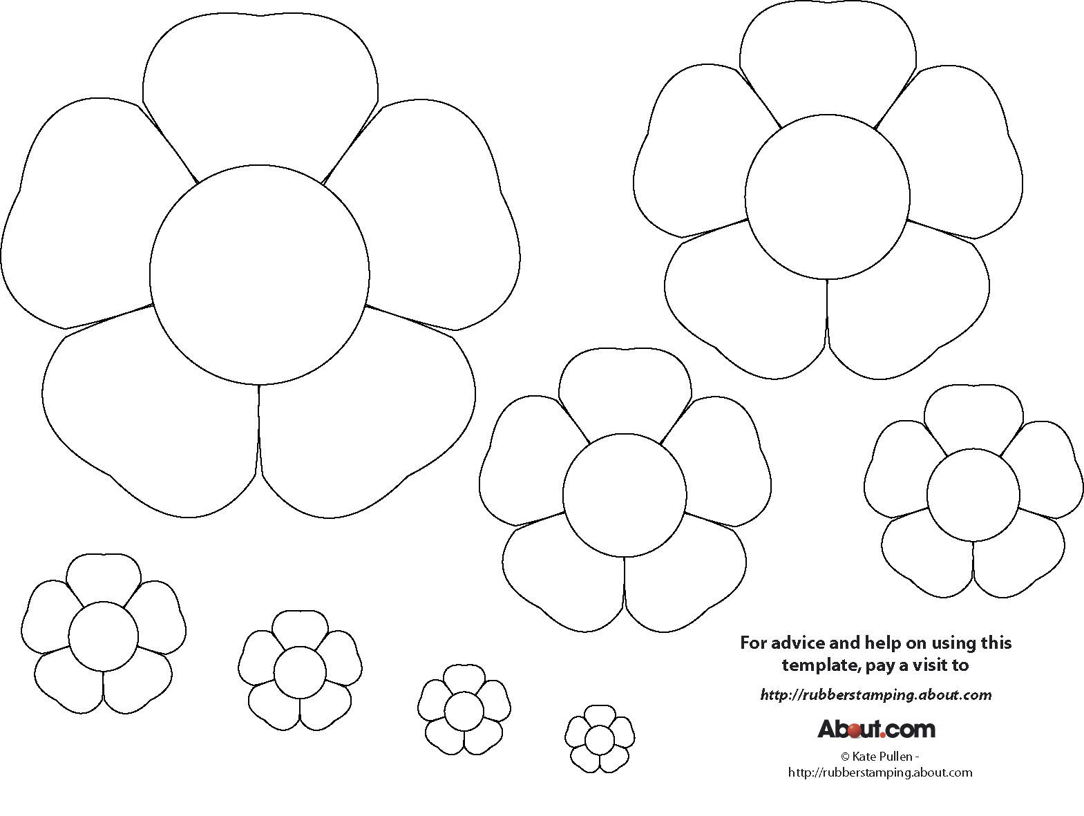 8 best images of printable paper flowers free printable for Paper cut out templates flowers