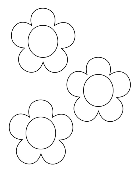 6 Images of Flower Printable Templates Crafts