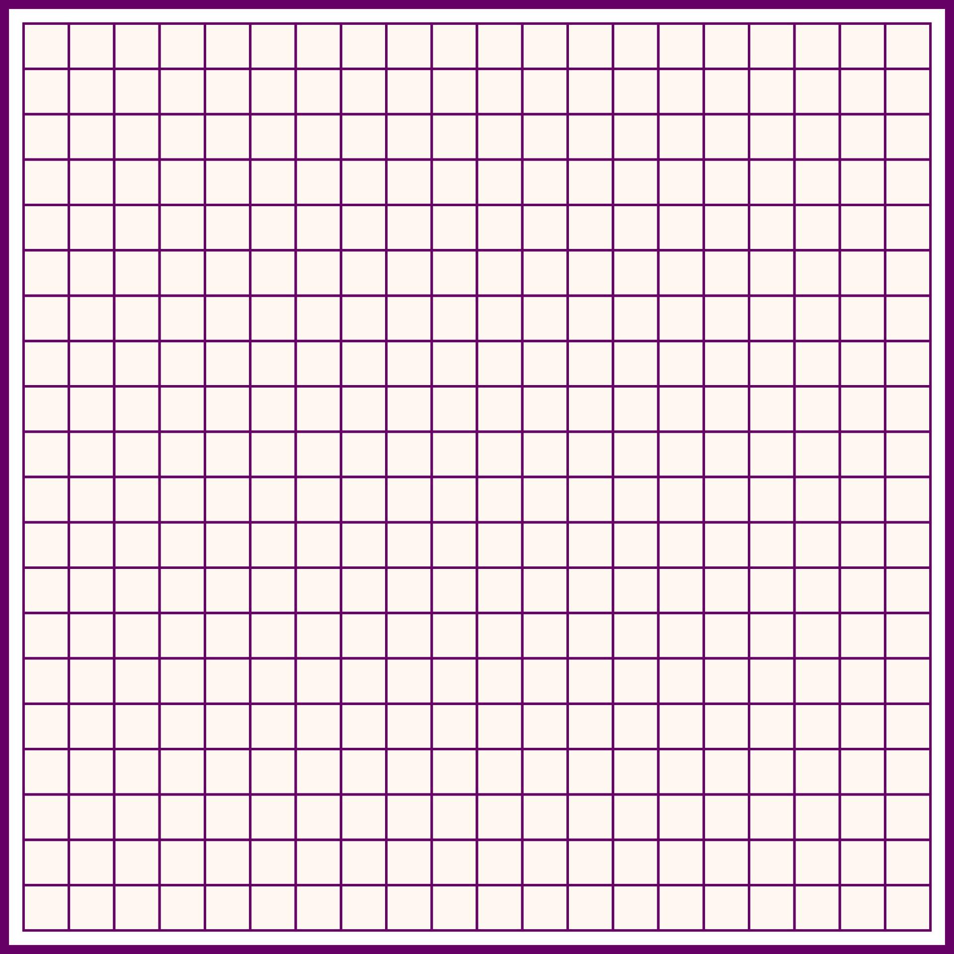 Grid Printable - Printable Grid Graph Paper 20X20, 20 X 20 Graph Paper ...