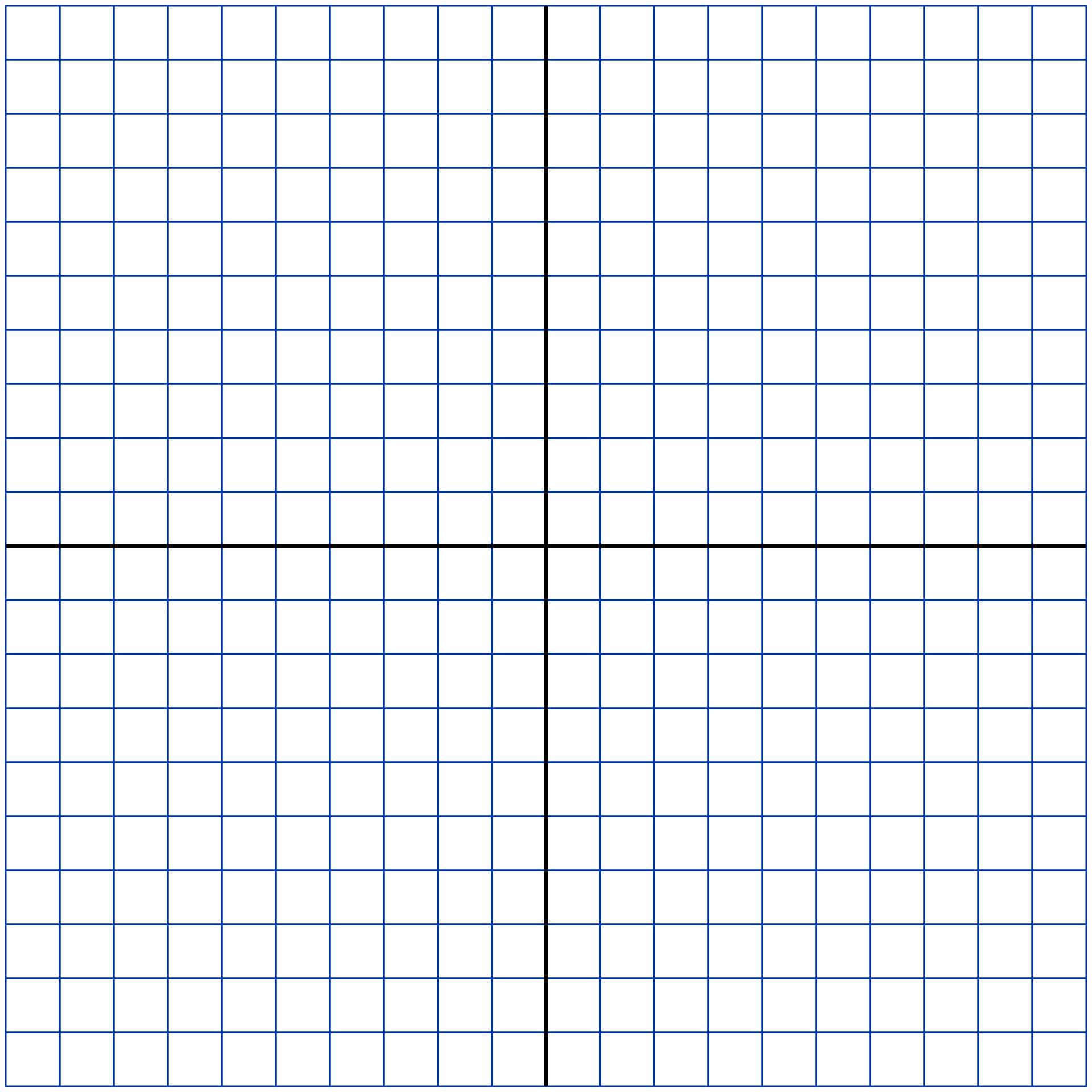 Printable Grid Graph Paper 20X20