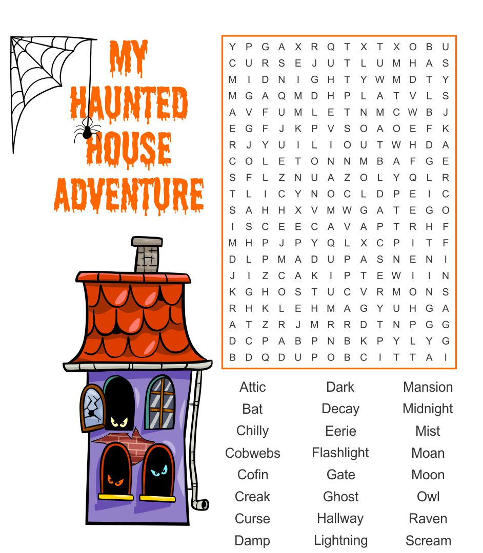 7 Images of Printable Halloween Word Search PDF