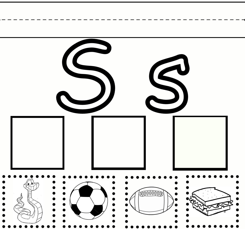 7 Images of Free Printable Preschool Letter S Worksheet