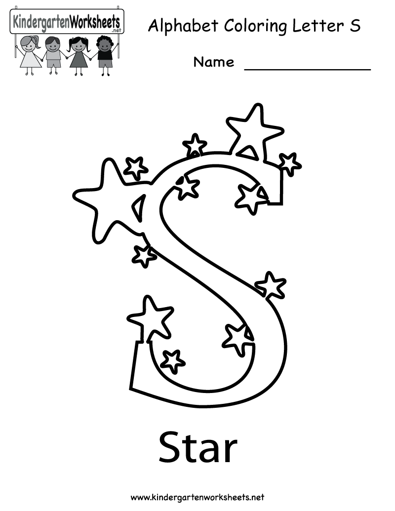 math worksheet : 7 best images of free printable preschool letter s worksheet  : Free Kindergarten Alphabet Worksheets