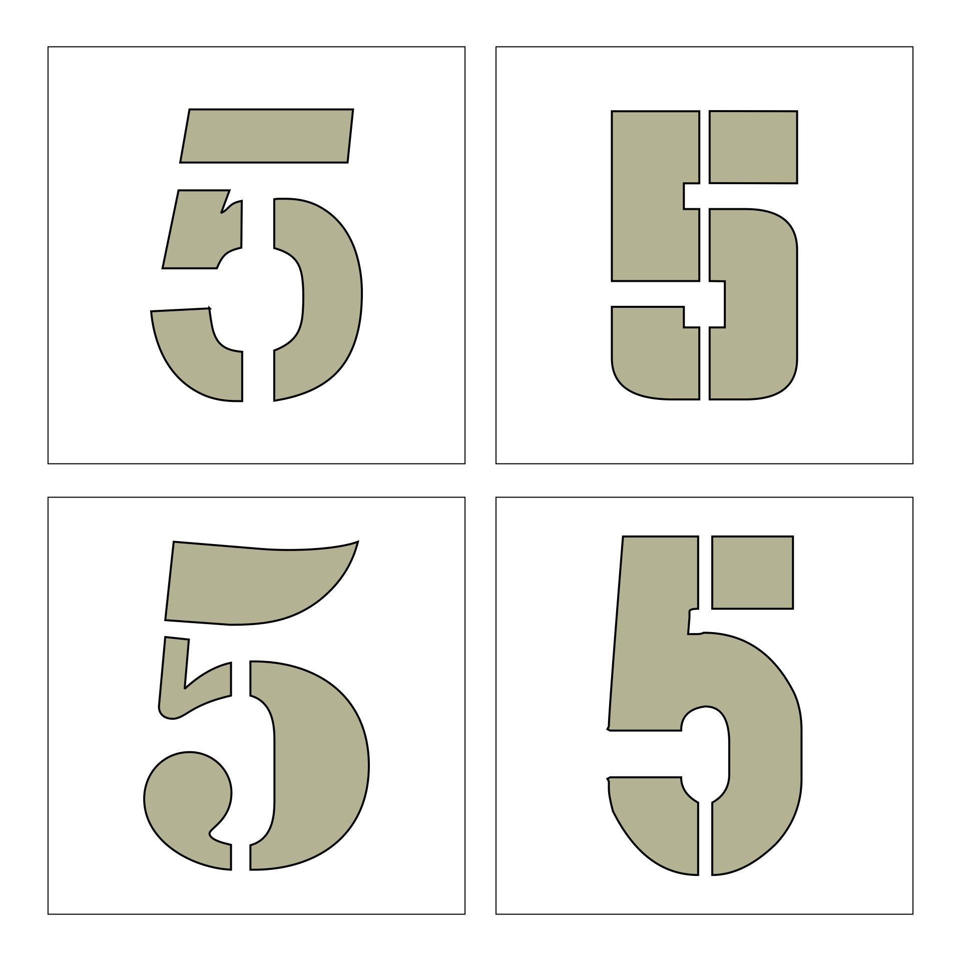 Printable Number 5 Template