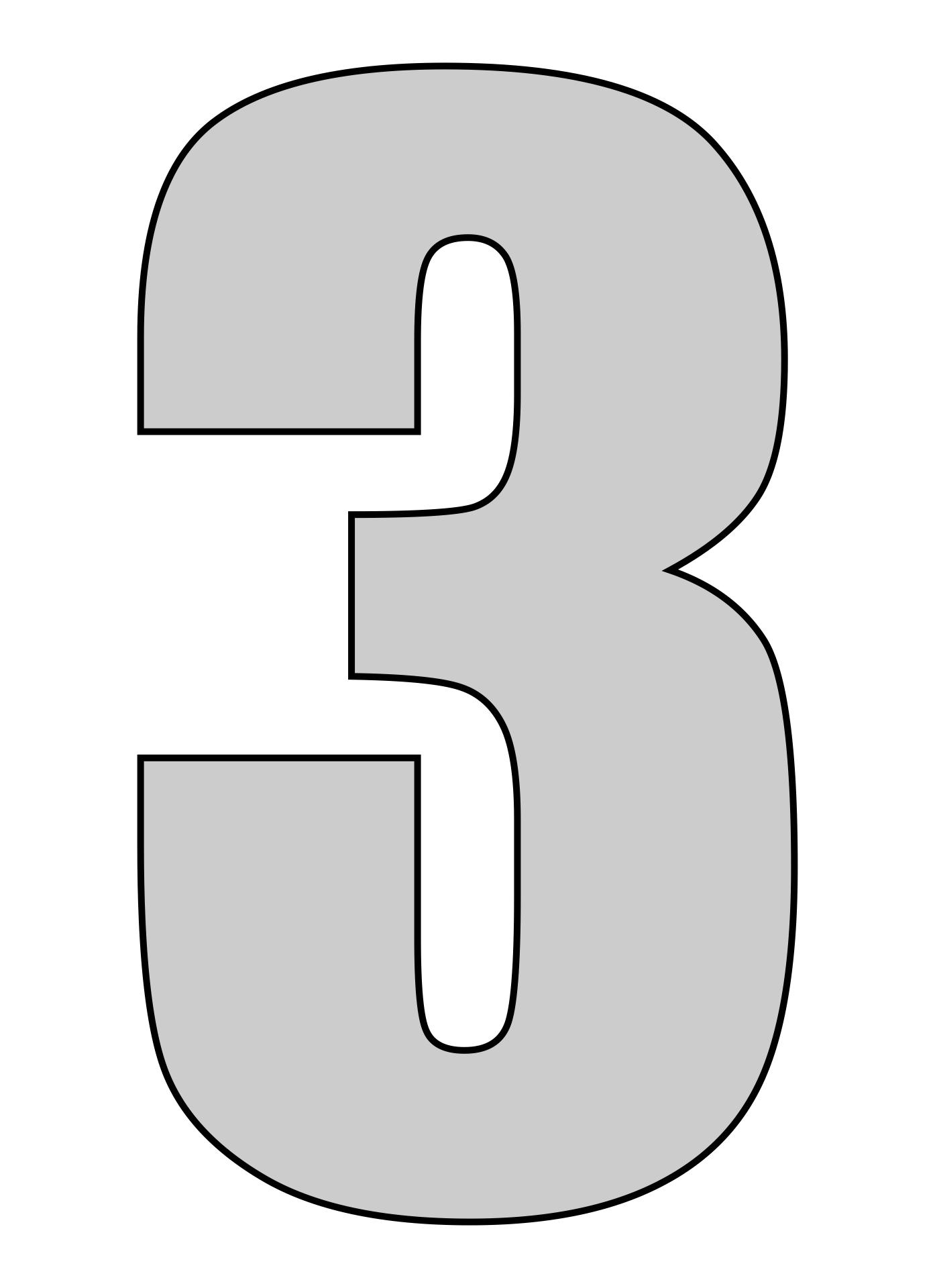 Printable Number Three Template