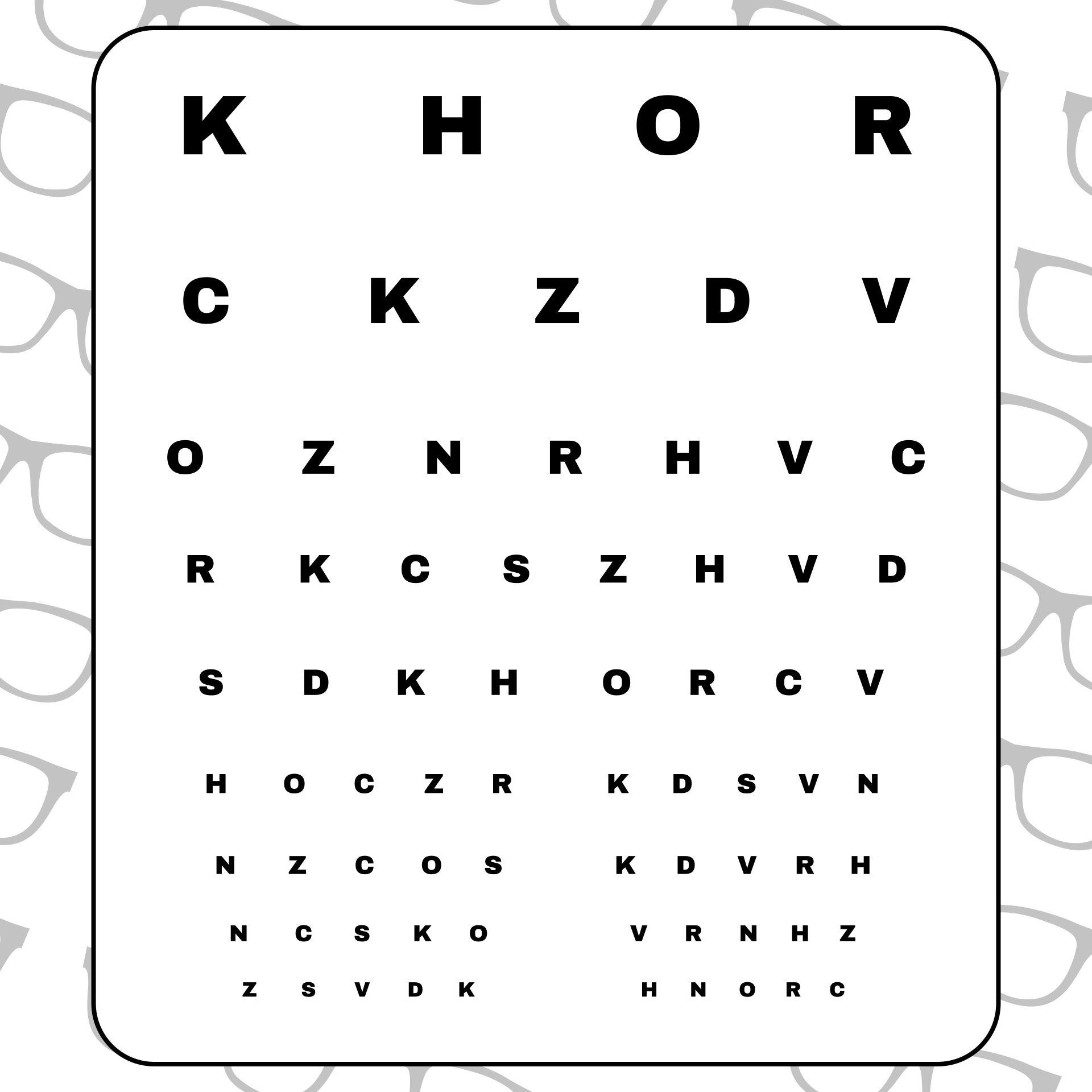 Printable Snellen Eye Chart PDF