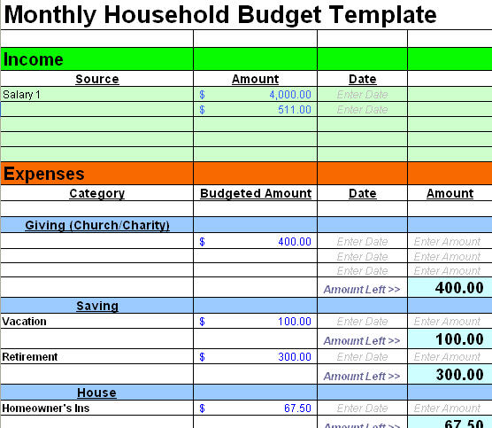 Printables Simple Household Budget Worksheet printables simple family budget worksheet safarmediapps 6 best images of printable free sample