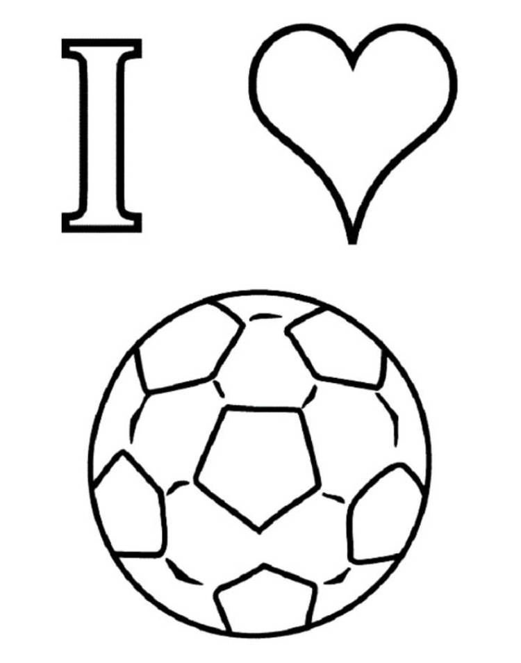 3 Images of I Love Soccer Coloring Pages Printable