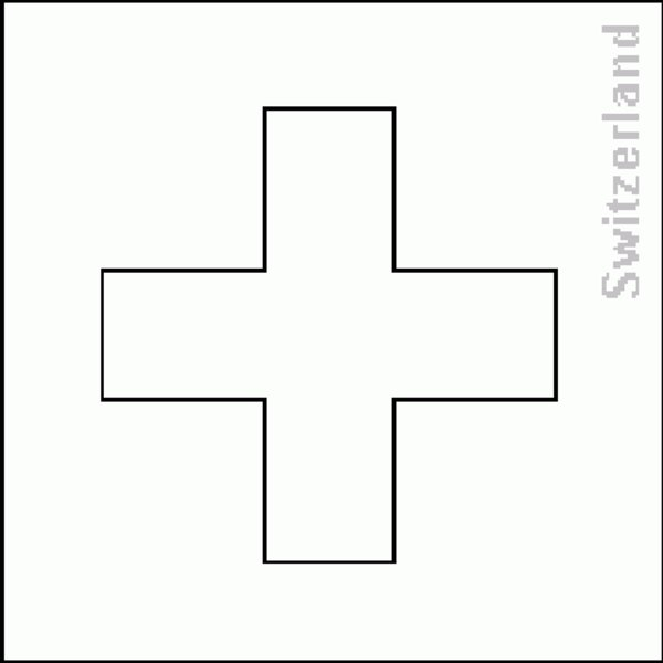 switzerland flag coloring pages - photo#7