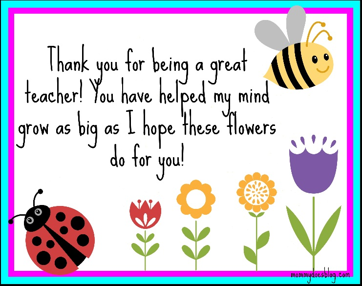 8 Images of Thank You Cards Printable For Teachers