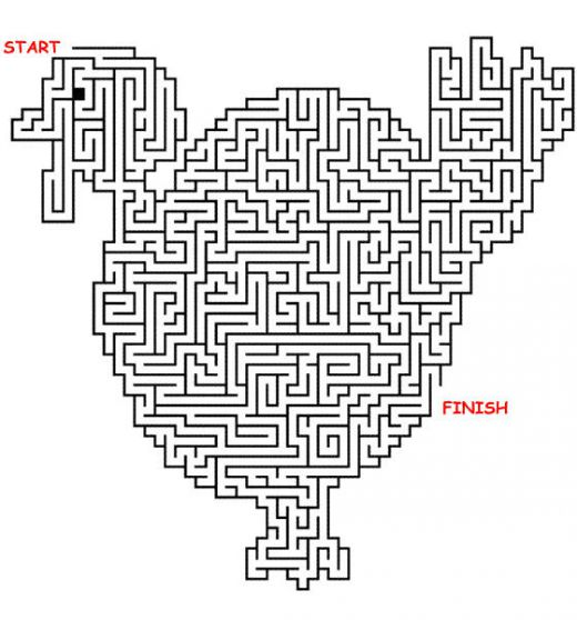 5 Images of Free Printable Thanksgiving Maze