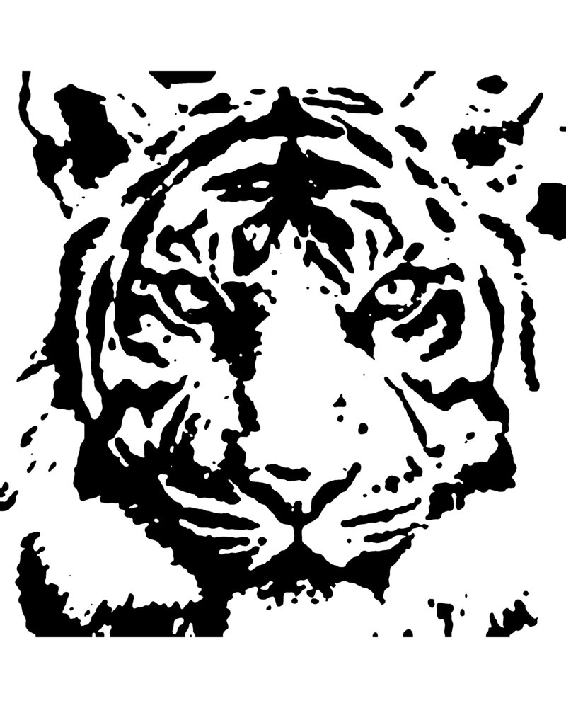 8 Images of Baby Tiger Stencils Printable