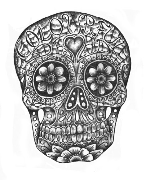 Tribal Sugar Skull Drawing Tumblr