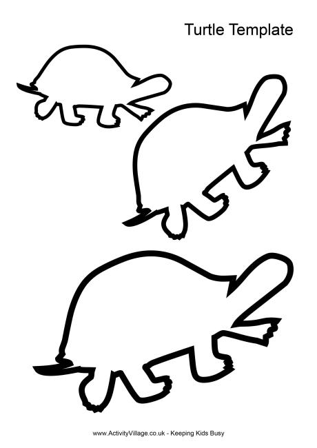 7 Images of Free Printable Turtle Templates