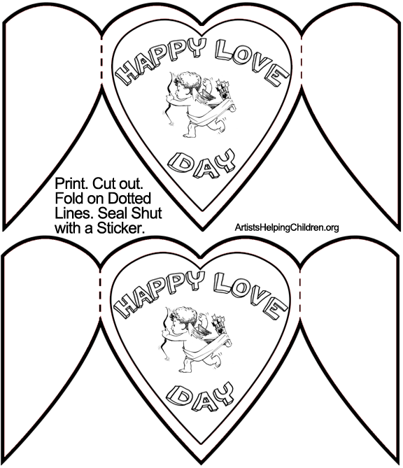Valentine's Day Card Templates Printable