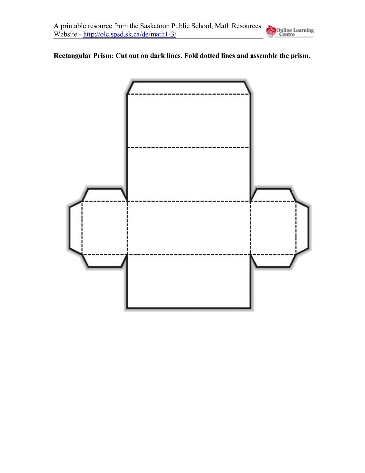 5 Images of Rectangular Prism Printable