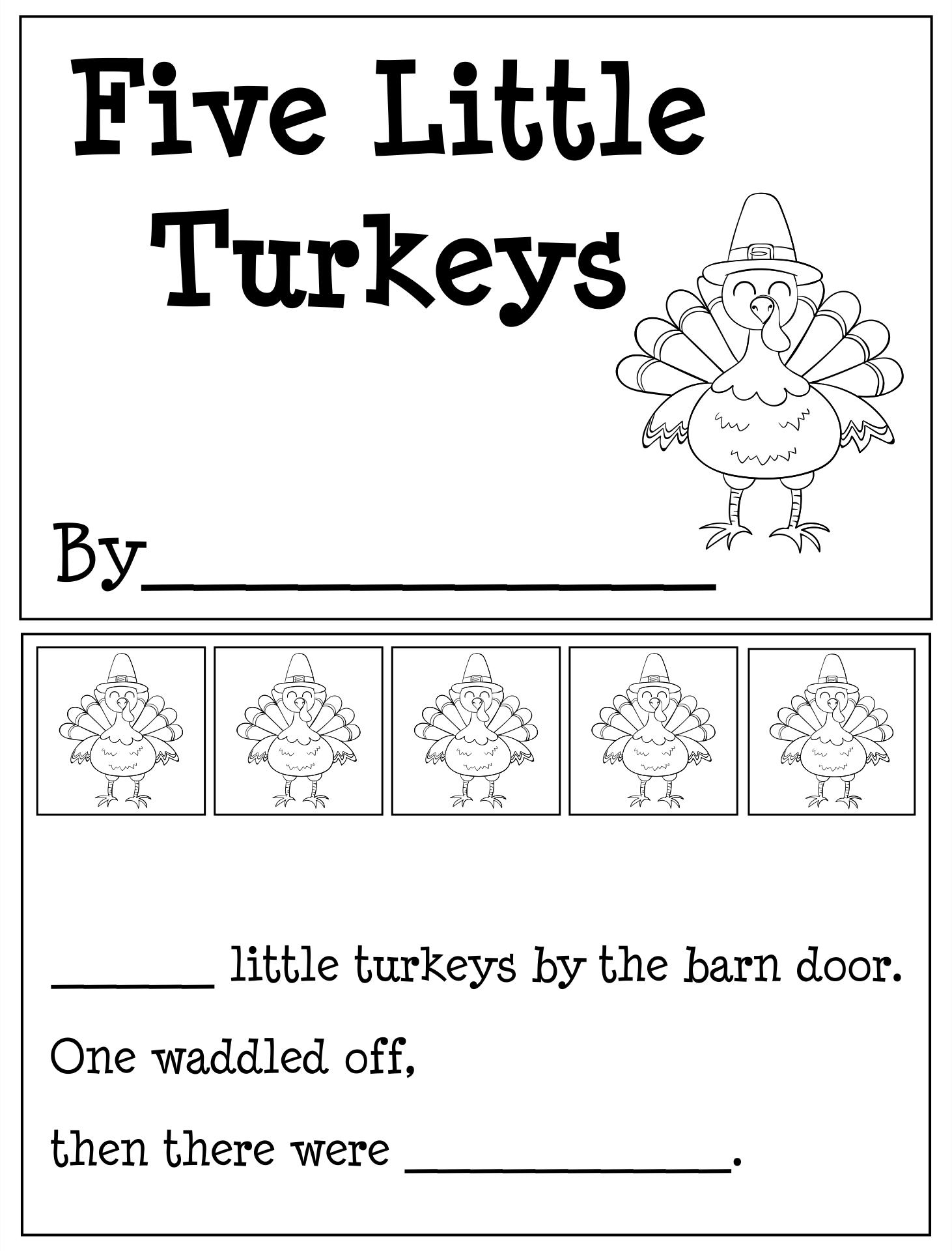 4 Images of Printable Thanksgiving Books For Kindergarten