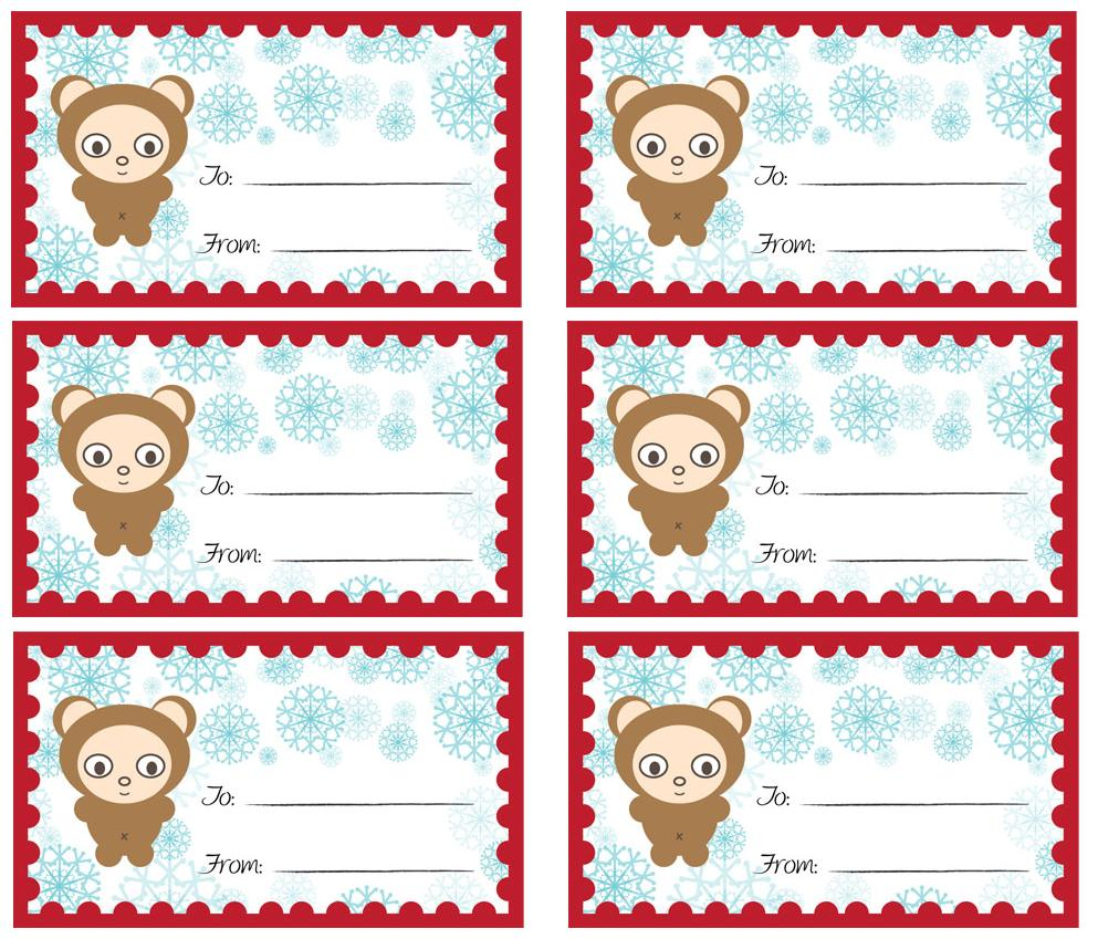 6 Images of Cute Printable Angel Tags