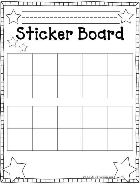5 Images of Printable Sticker Behavior Chart Kindergarten