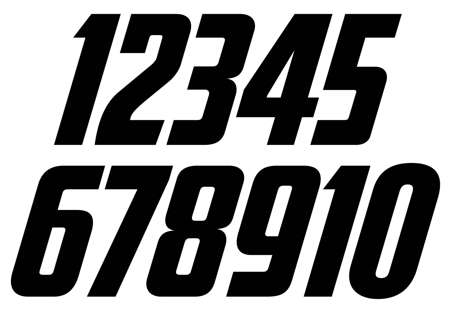 Black Large Printable Numbers 1 10
