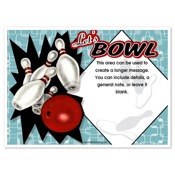 Printable Bowling Invitations – Bowling Invitation Template