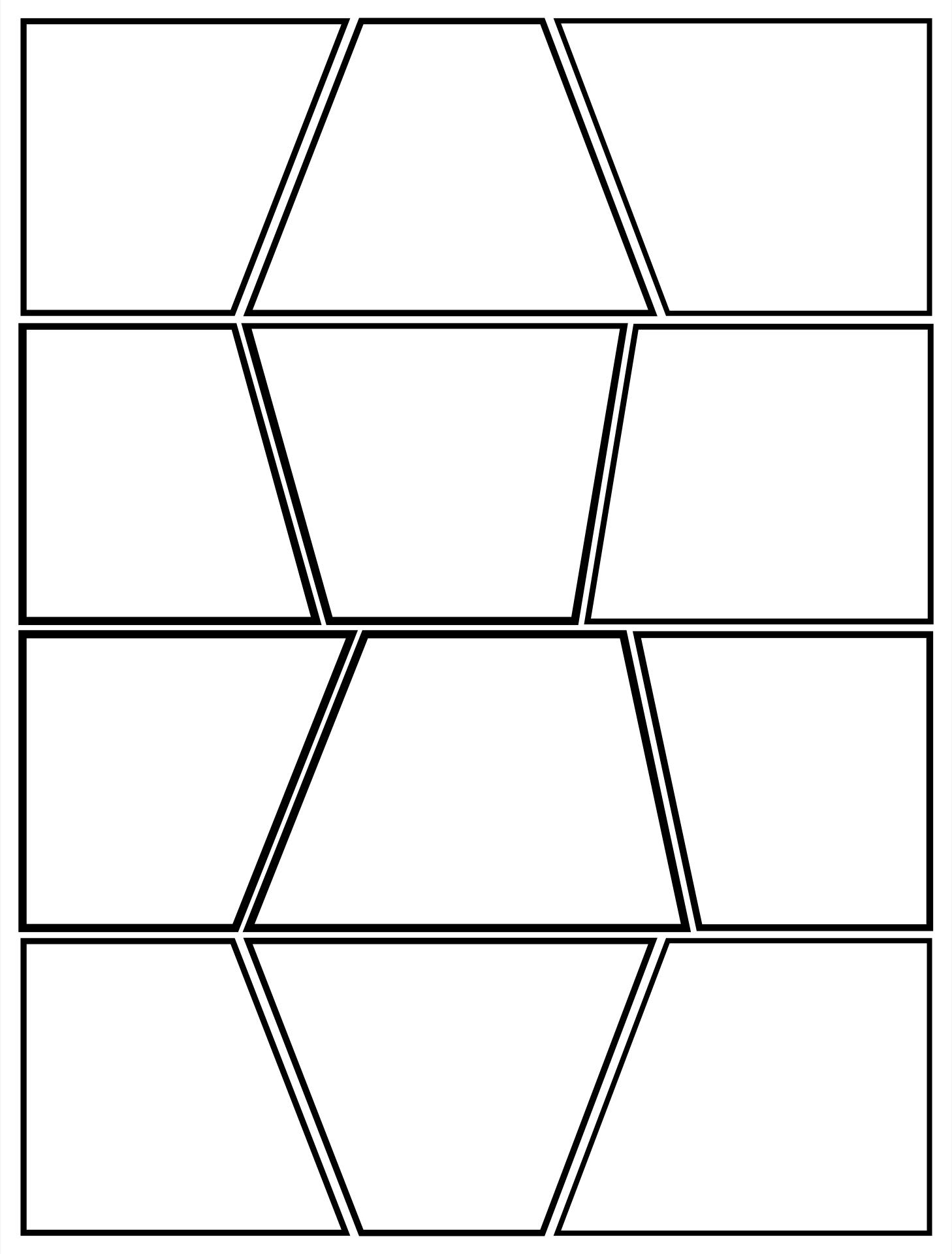 Blank Comic Book Panels Templates