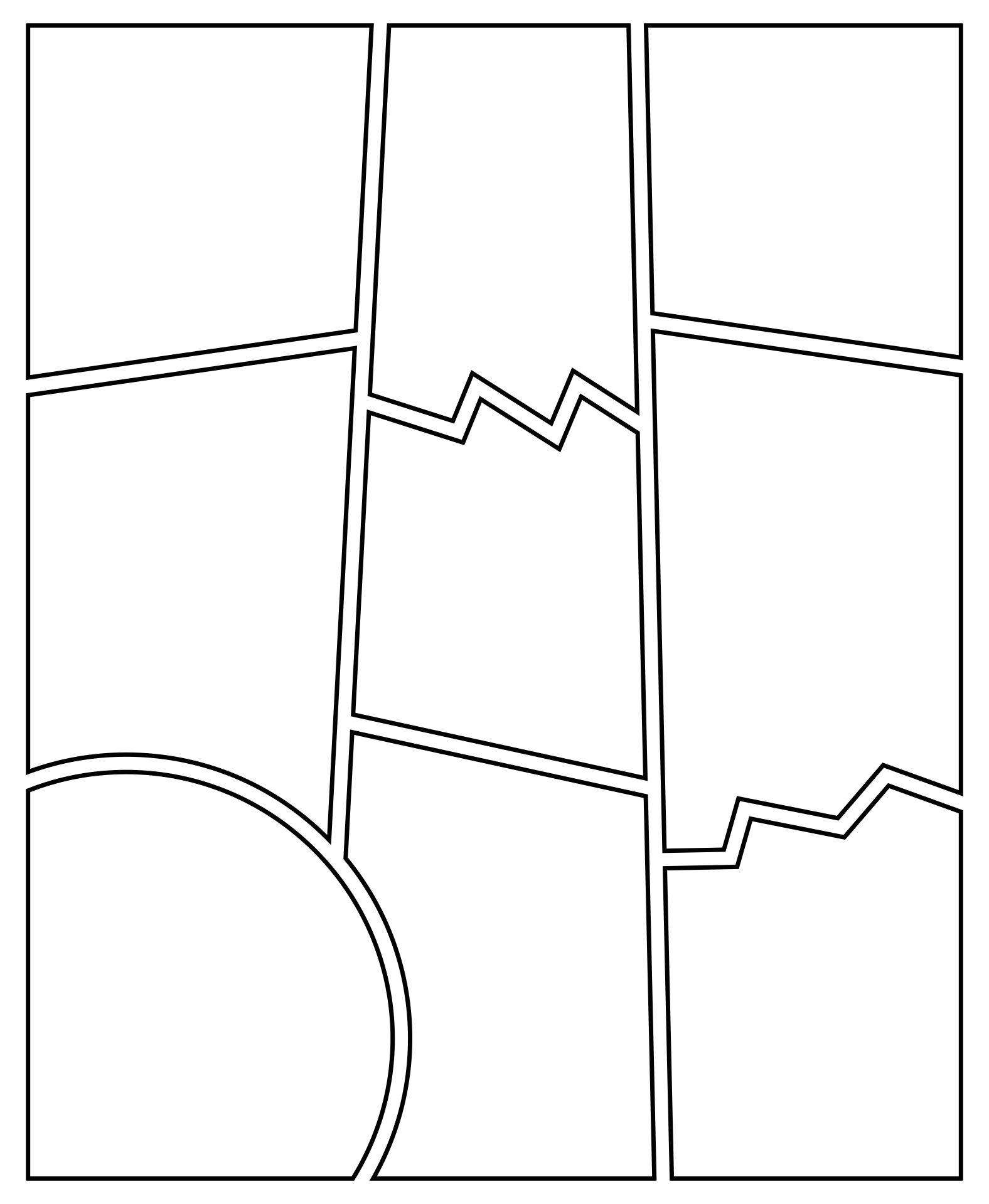Blank Comic Book Strip Template