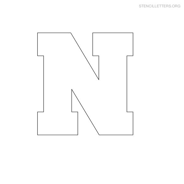 7 Images of Printable Block Letter N