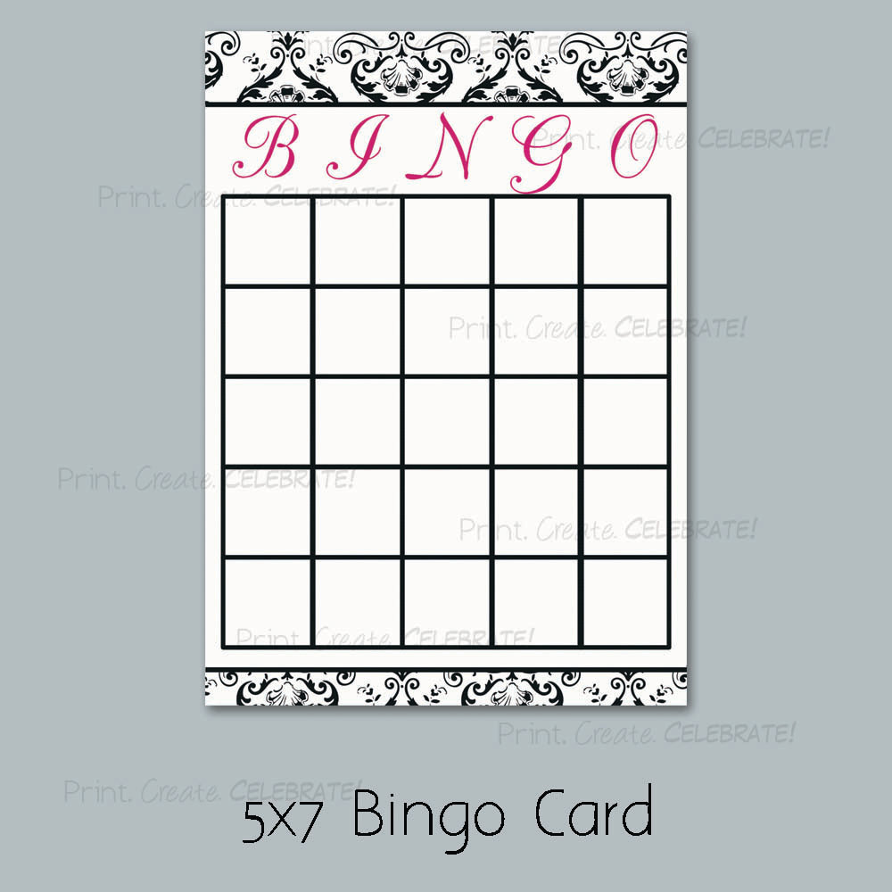 templates for bridal shower games - 7 best images of printable bridal bingo cards free