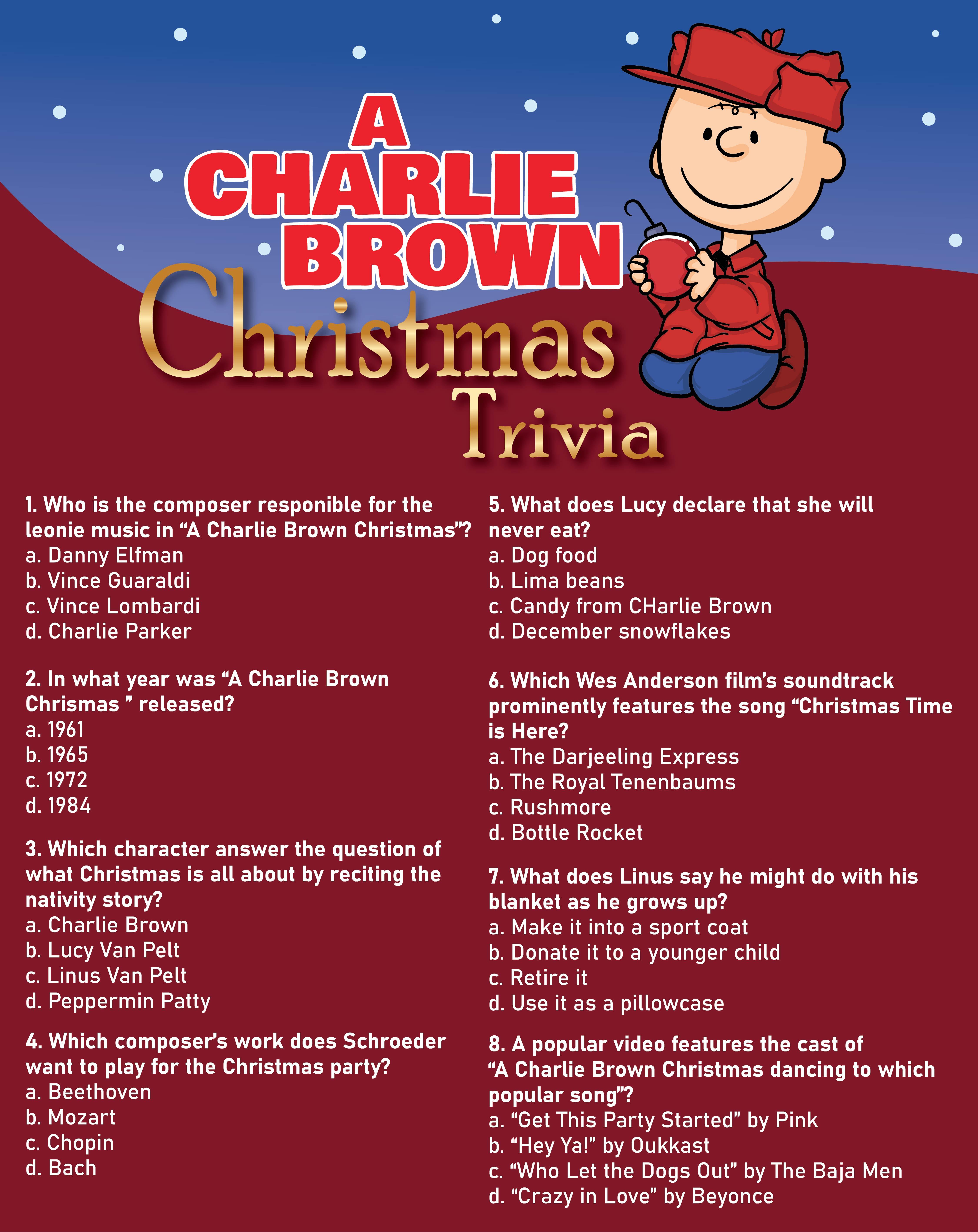 Charlie Brown Christmas Math