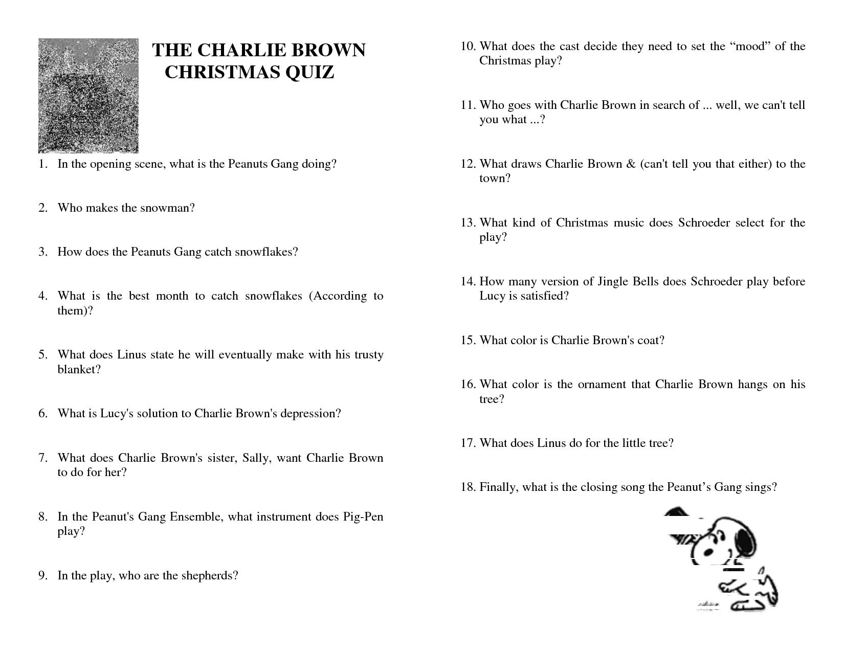 Charlie Brown Christmas Trivia