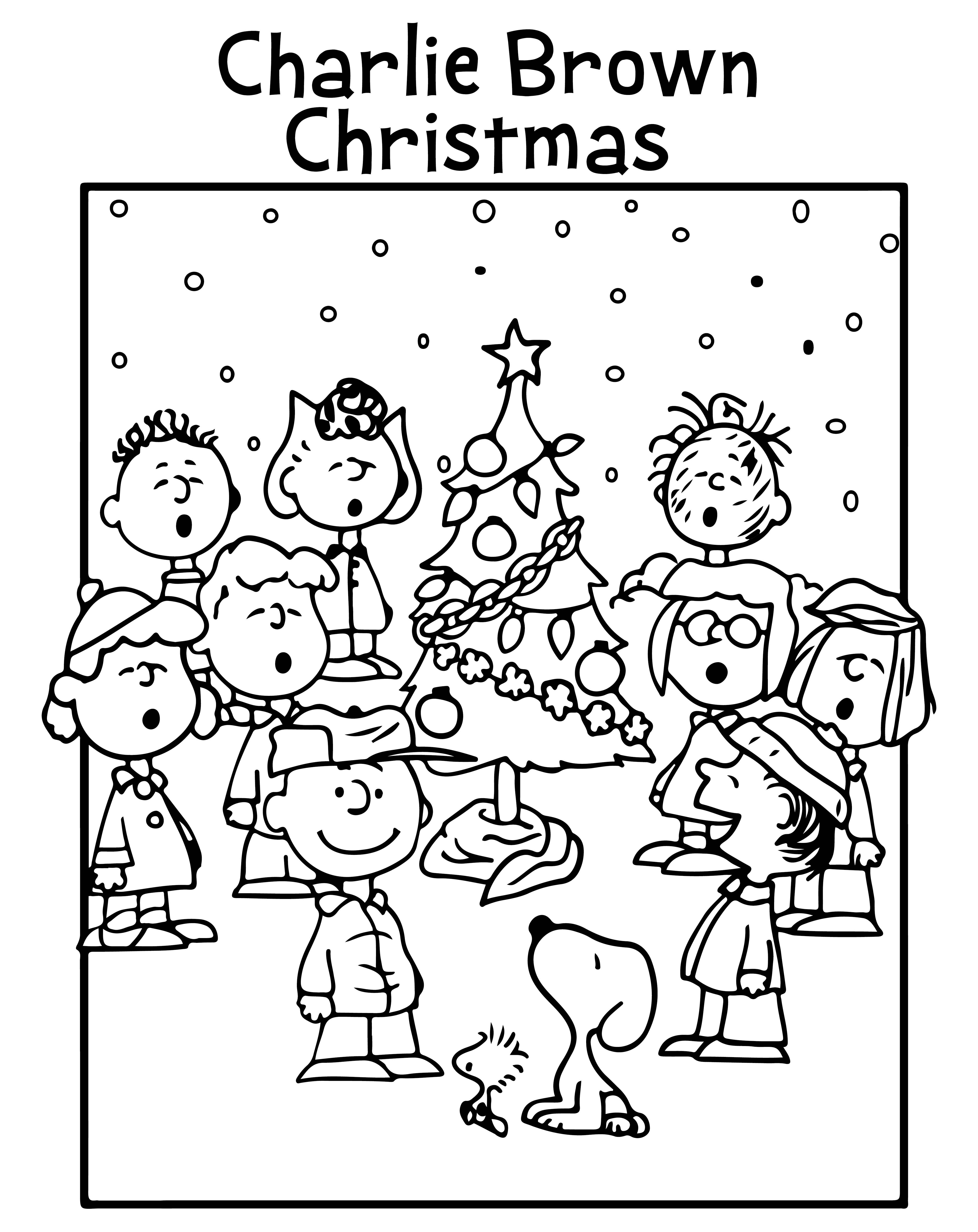 Charlie Brown Christmas Worksheets